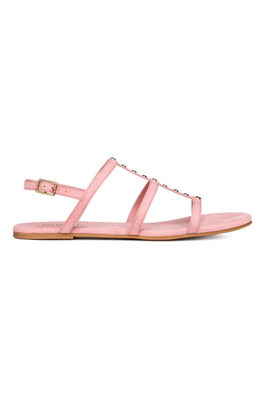 Studded sandals - Light pink - Ladies | H&M CN 1